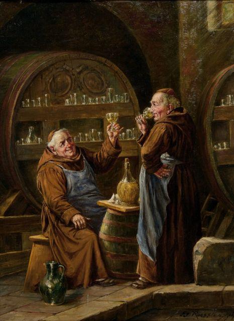 moines buvant de georg roessler