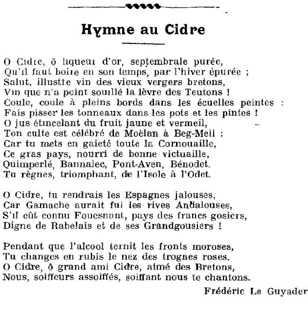 hymneaucidre