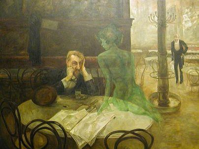 buveur d'absinthe de viktor oliva