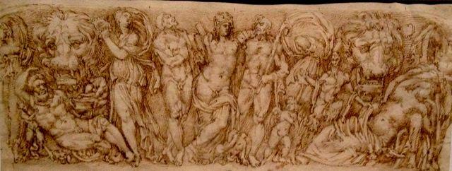 bacchus decouvrant Ariane endormie, attribué à Battista Naldini, Fiesole, vers 1560