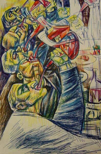 buveurs de vin italiens