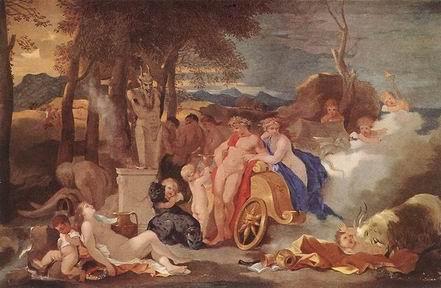 Bacchus et Ceres avec les Nymphes et les Satyres desebastienbourdon