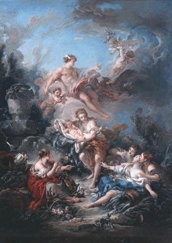 François Boucher - Mercure confiant l'enfant Bacchus aux Nymphes de Nysa1769