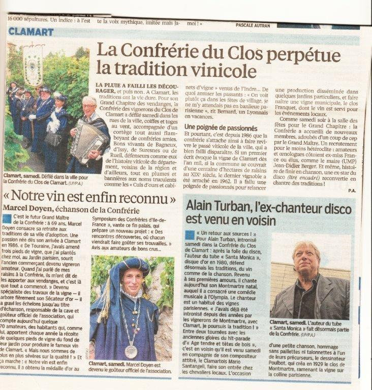 Le Parisien du 26 Octobre 2014